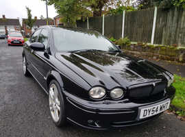 Jaguar X-TYPE, 2004 (54) Black Saloon, Manual Diesel, 201,000 miles