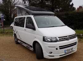 VW T5, 140ps, Snowdonia sport luxury 4 berth camper van, with low mileage (31'000) and full service history