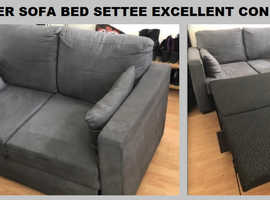 2 Seater Fabric Sofa Bed Settee BARGAIN