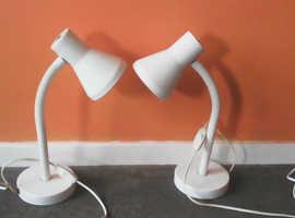 2 desk lights