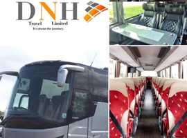 DNH Travel ltd coach hire and luxury minibus hire for all occasions and events