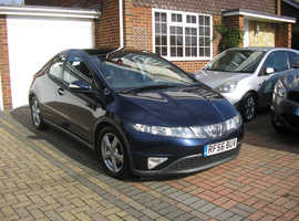 (2007) HONDA CIVIC 2.2 CDTI-MET/BLUE 5 DOOR 6 SPEED (ONE OWNER 96000 MILES FSH 12 STAMPS ABSOLUTELY IMMACULATE)