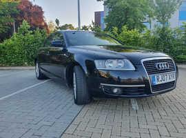 Audi A6, 2007 (07) Black Saloon, Cvt Diesel, 124,029 miles