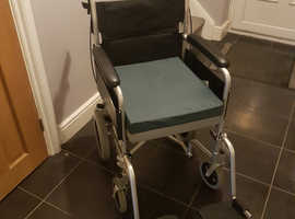 Drive Devilbiss lightweight aluminium wheelchair, seat pad and waterproof cover