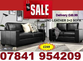 brand new uno 3+2 leather sofa for sale