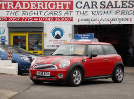 2008/58 Mini One 1.4 finished in Chilli Red with Black Stripes., 33,655 miles