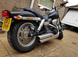 2013 Harley Davidson  Fat bob 1690cc 3k miles Black