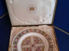 Mulberry hall viking plate in box very good condition
