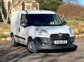 2011 (61) FIAT DOBLO CARGO 1.3 16V SX MULTIJET DIESEL 5 Dr in WHITE, NEW MOT, NO VAT