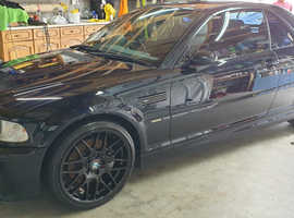 BMW M3, 2003 (03) black convertible, Manual Petrol, 112000 miles