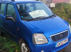 Suzuki WAGON R+, 2002 (52) Blue Hatchback, Manual Petrol, 72,794 miles