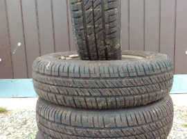 Tyres x 4 155/70R13 p!us Rims