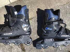 BAUER In-Line Roller Skates,  size 8