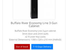 Buffalo river bronze series 3 gun safe