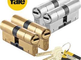 Yale Superior Euro Cylinder Series 1* Anti Snap Locks various sizes Nickel or Brass