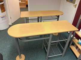 Slim modern desk and chair,