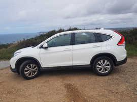 Honda CR-V, 2015 (64) White Estate, Manual Diesel, 38,000 miles