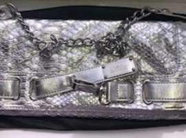 Silver Women Evening Clutch Bag/Handbag with Chain Link Strap - Star by Julien Macdonald Debenhams