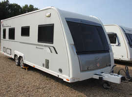 Buccaneer Clipper Solid 2013 Twin Fixed Single Beds Caravan + Motor Movers + Half Size Awning + Front Towing Cover