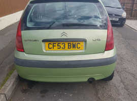 Citroen C3, 2003 (53) Green Hatchback, Manual Diesel, 100,000 miles
