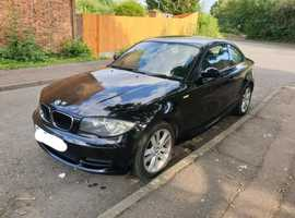 BMW 1 series, 2007 (57) Black Coupe, Manual Diesel, 88,000 miles