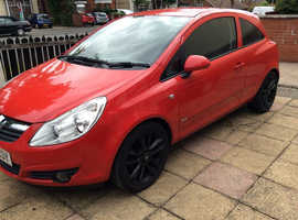 Vauxhall Corsa, 2007 (56) Red Hatchback, Manual Petrol, 44,000 miles