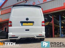 Proflow Custom Built VW T5.1 Transporter Dual Middle Exhaust