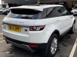 Land Rover Range Rover Evoque, 2014 (14) White Estate, Automatic Diesel, 76,000 miles