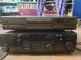 Tannoy Tall Speakers/Compact disk player/Audio-Video surround receiver & Subwoofer collect Dereham