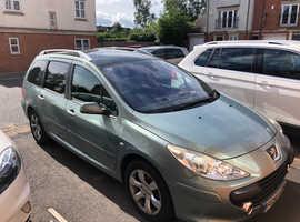 Peugeot 307 LX, 2006 (56) Grey Estate, Manual Petrol, 57000 miles