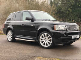 Land Rover Range Rover Sport, 2006 (06) Black Estate, Automatic Petrol, 88,000 miles