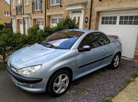 Peugeot 206, 2002 (02) Silver Coupe, Manual Petrol, 107,000 miles
