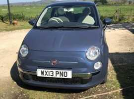 Fiat 500, 2013 (13) Blue Hatchback, Manual Petrol, 33,000 miles
