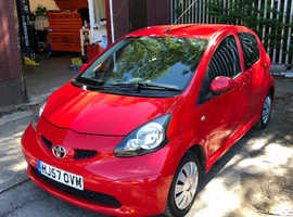 Toyota Aygo, 2007 (57) Red Hatchback, Manual Petrol, 76,945 miles
