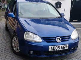 Volkswagen Golf, 2005 (05) Blue Hatchback, Manual Diesel, 152,000 miles