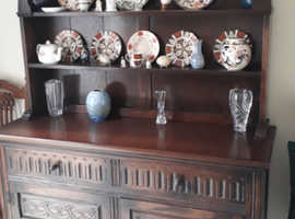 Oak Dresser - Solid Dark Wood
