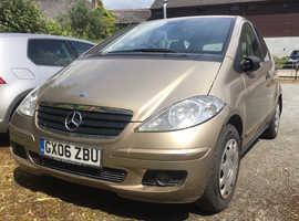 Mercedes A-CLASS, 2006 (06) gold hatchback, Cvt Petrol, 83,877 miles