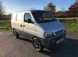 Suzuki 2005 carry Van 1.3 Petrol Silver Only 43000 miles 2 owners Ideal Mini Camper Conversion.