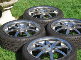 Set of 4 Alloy Wheels, with Tyres