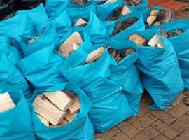 100 bags logs for sale