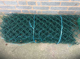 Green plastic coated fencing