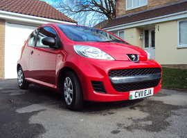 Peugeot 107, 2011 (11) Red Hatchback, Manual Petrol, 55,000 miles