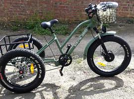 PRICE DROP All Terrain Electric Fat Bike Trike