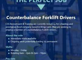 Forklift Counterbalance Drivers - Urgently needed