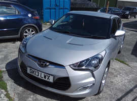 Hyundai Veloster, 2013 (13) Silver Coupe, Manual Petrol, 46,700 miles