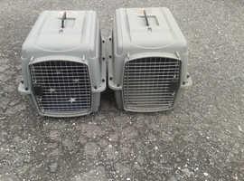 Large dog crates.