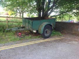 Good buy 1955 Ex British Army Trailer on big wheels.