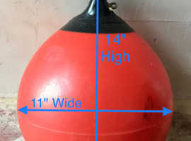 Red top quality boat fenders buoys kayak outriggers Lots dif sizes for sale on separate listings