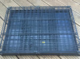 Folding Metal Pet Cage for Transport or Security