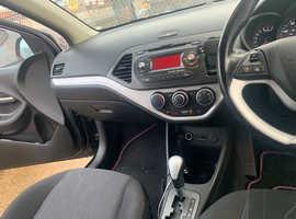 Kia Picanto, 2013 (13) Black Hatchback, Automatic Petrol, 58,066 miles